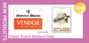 Paper Event Badges & Tags